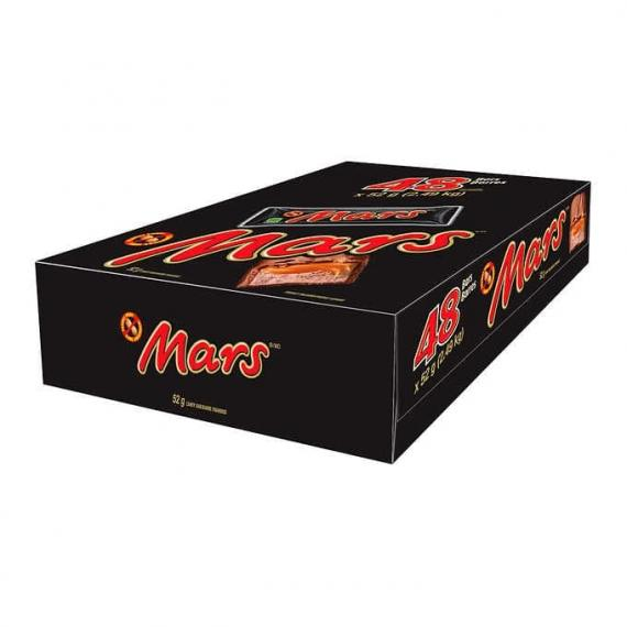 Mars Caramel Chocolate Bars, 48 × 52 g