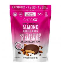 Chocxo Organic Dark Chocolate Almond Butter Cups, 420 g