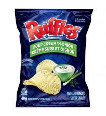 Ruffles Sour Cream & Onion Chips, 48 × 40 g
