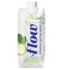 Flow Natural Cucumber Mint Spring Water, 18 x 500 mL