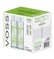 Voss Sparkling Lime Mint Artesian Water, 12 × 375 mL