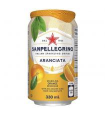 San Pellegrino Aranciata Carbonated Beverage, 24 × 330 mL
