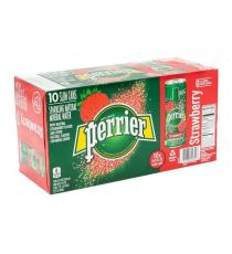 Perrier Carbonated Strawberry Water Slim Cans, 30 × 250 mL