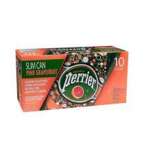 Perrier Pink Grapefruit Carbonated Water Slim Cans, 3 packs of 10 × 250 mL