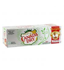 Canada Dry Diet Ginger Ale, 12 × 355 mL