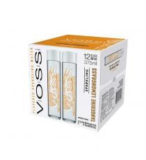 Voss Sparkling Tangerine Lemongrass Artesian Water, 12 × 375 mL