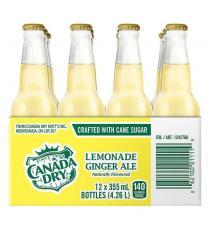 Canada Dry Lemonade Ginger Ale, 12 x 355 mL bottles