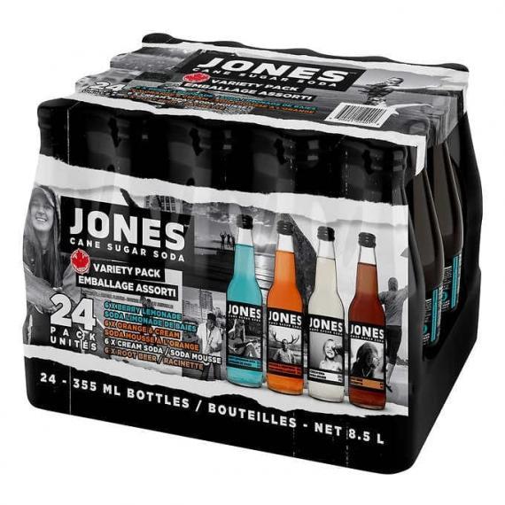 Jones Cane Sugar Soda, 24 × 355 mL
