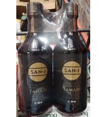 SAN J Tamari Bio Sauce de Soja, 2 x 592 ml