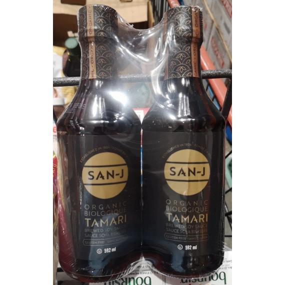 SAN J Tamari Organic Soy Sauce, 2 x 592 ml