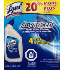 Lysol Advanced Toilet Bowl Cleaner, 4 Packs, 3.78 L