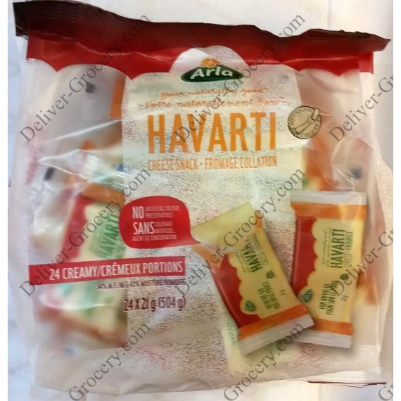 Arla Havarti Snack Cheese Portions 24 x 21 g (504 g)