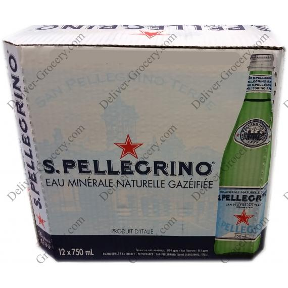 S.Pellegrino Carbonated Natural Mineral Water 12 x 750 ml