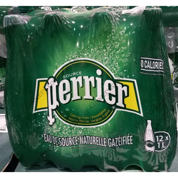 Perrier Carbonated Natural Spring Water 12 x 1 L