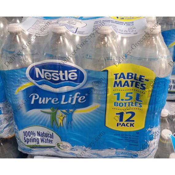 189907d7bb Nestlé Pure Life %100 Natural Spring Water 12 x 1.5 L - Deliver ...