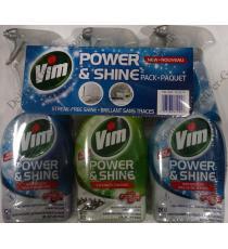 Vim Power and Shine Pack, 3 packs x 700 ml