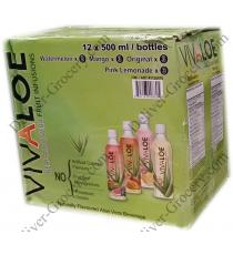 Vivaloe Real Aloe Vera Fruit Infusion 12 x 500 ml bottles