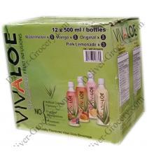Vivaloe Réel Aloe Vera Fruits Infusion de 12 x 500 ml bouteilles