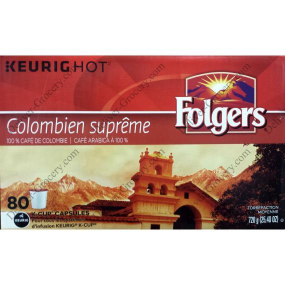 Folgers suprême du Café Colombien, 80 tasses, 720 g