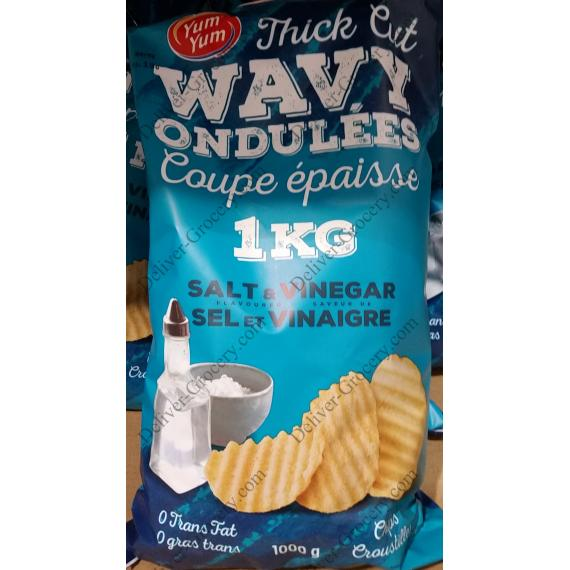 Yum Yum Salt & Vinegar Chips 1 kg