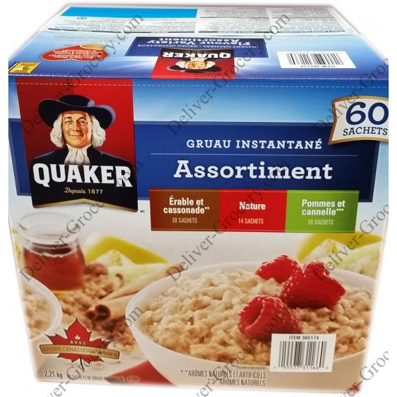 Quaker Instant Oatmeal 60 packets - 2.21 kg