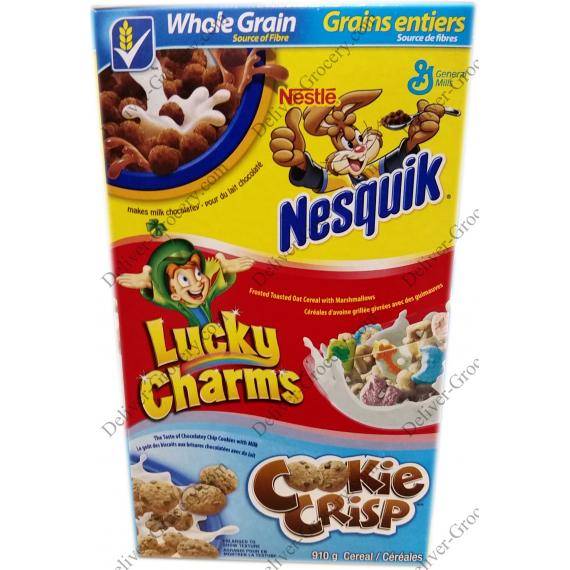 Nestlé Nesquik General Mills Assorted Cereals 910 g