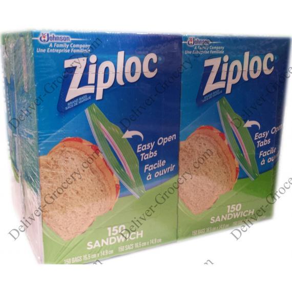 Ziploc Sandwich Bags, 4 x 150 packs