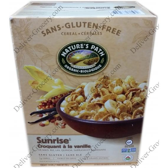 Natures Path Organic Sunrise Crunchy Vanilla Cereal 750 g ( 2 x 375 g )