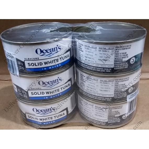 Oceans Solid White Tuna in Water 6 x 184 g