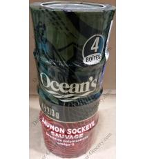 Les océans du Saumon Sockeye Sauvage 4 x 213 g