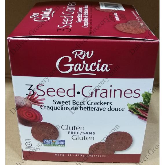 RW Garcia Sweet Beet Crackers 850 g ( 2 x 425 g )