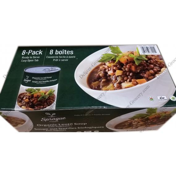 Sprague Organic Lentil Soup with Vegetables 8 x 398 g