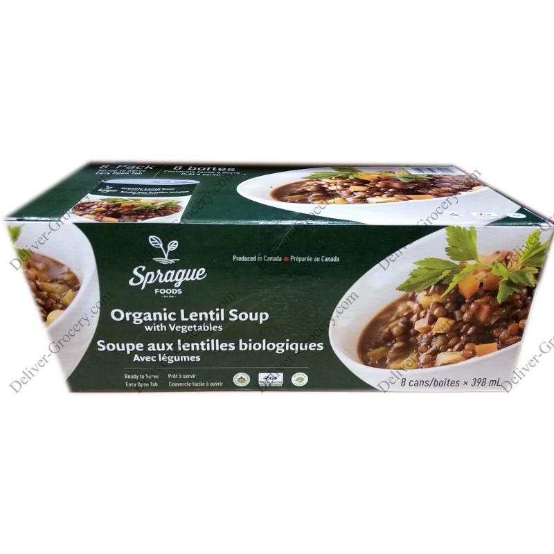 Sprague Organic Lentil Soup With Vegetables 8 X 398 G Deliver