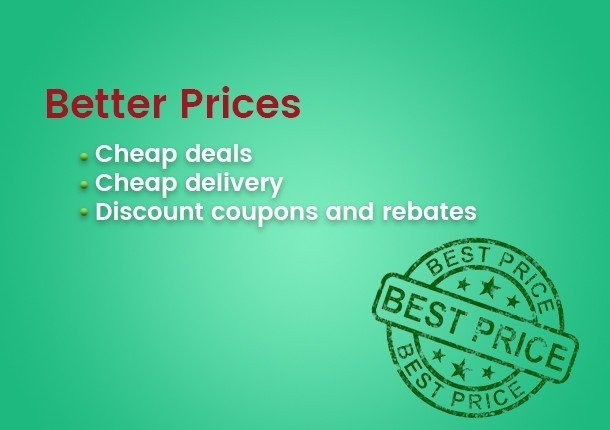 Better Prices - Cheap deals Cheap Delivery Discount coupons and rebates
